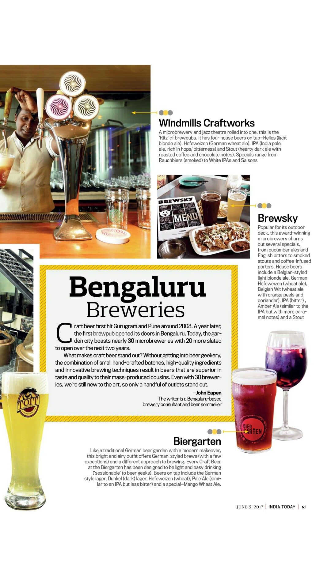 To visit in Bangalore Craft beer, Brewery, Beer