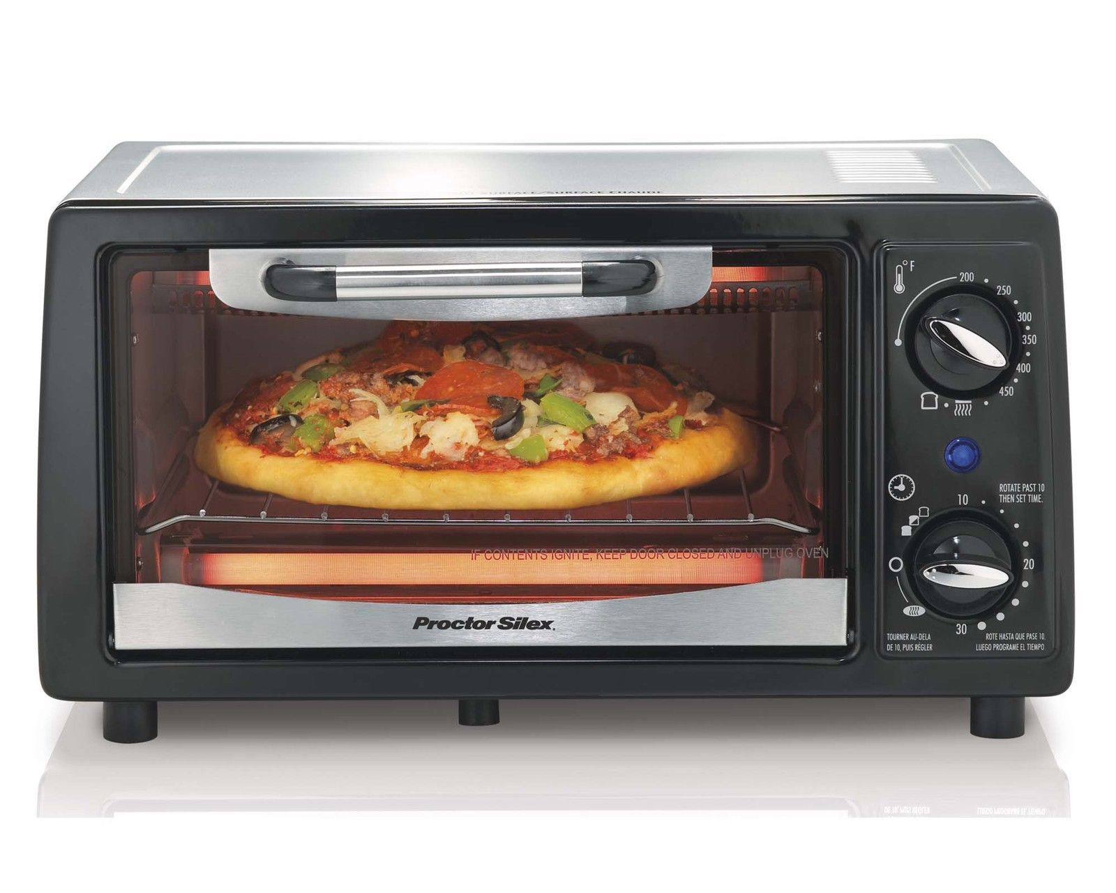 Proctor Silex 31140 4-Slice Electric Counter-Top Toaster Oven With Timer