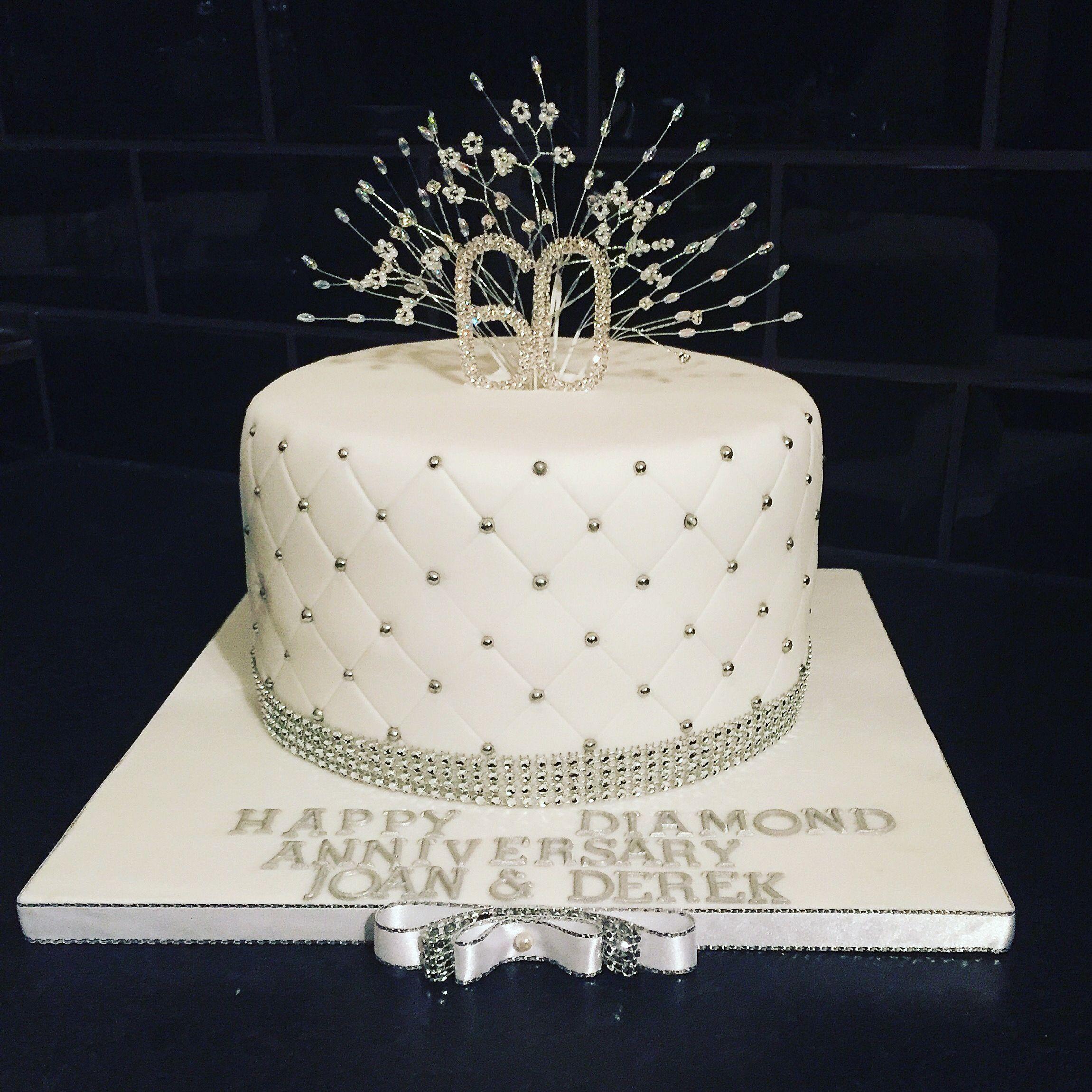 Diamond wedding anniversary cake | My cakes | Pinterest | Wedding ...