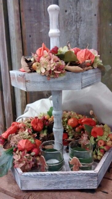 Herfst etagere herfst pinterest herfst decoratie en for Decoratie herfst