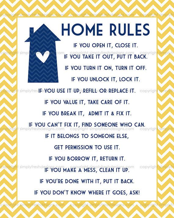 Home Rules - Instant Download | Simply Fresh Designs | Airbnb house