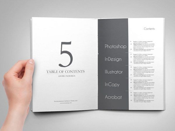 Amazing Table Of Contents For Adobe Indesign  Adobe Indesign
