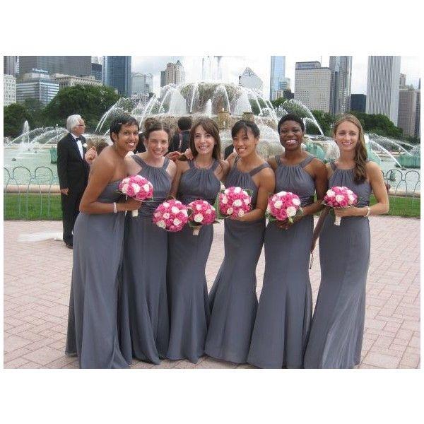 a5e5373f56db David's Bridal Elegant Grey/ Pewter Bridesmaid Dress .....color maybe?