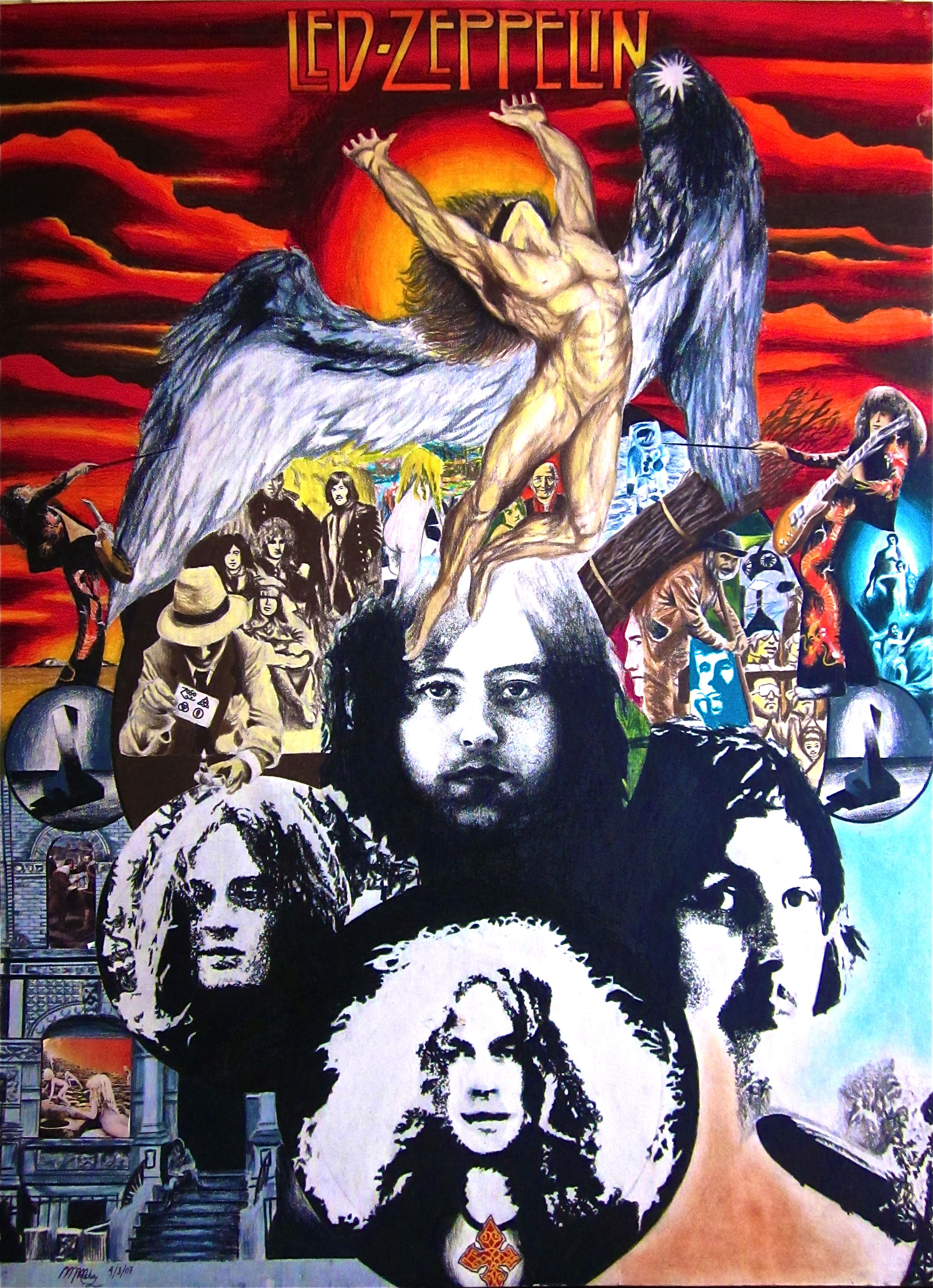 Another collage of all Led Zeppelin covers in different ...