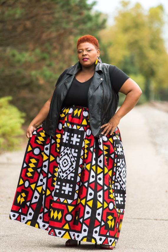 c6c000d513f African Maxi Skirt