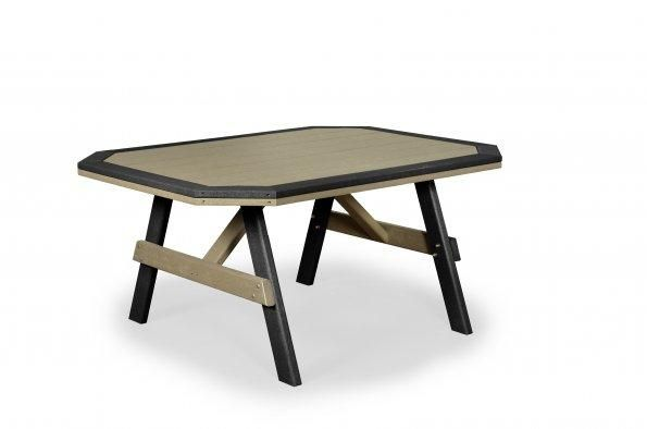 Amish Poly Wood Garden Table with Border
