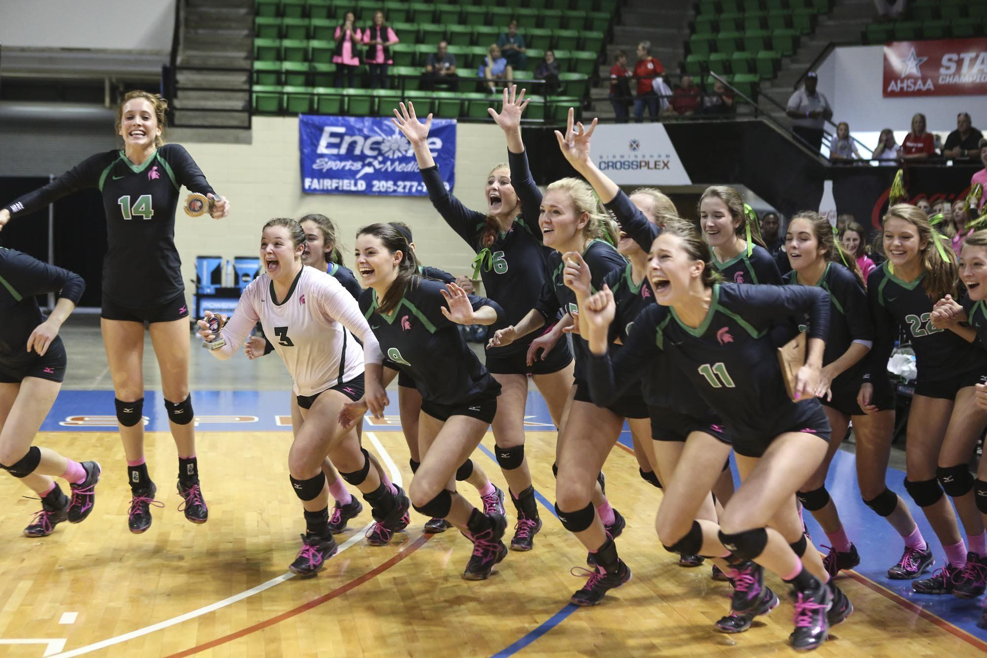 Mountain Brook Vs Hoover Volleyball State Championship 2016 High School Volleyball Volleyball Pictures Volleyball Sports