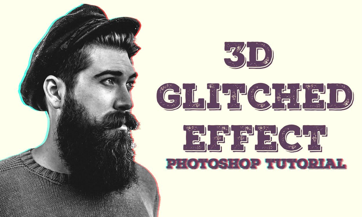 Create 3d Glitch Effect Photoshop Tutorial درس تأثير ثري دى على الصور بالفوتوشوب Mayar El Shahat Photoshop Tutorial Photoshop Poster