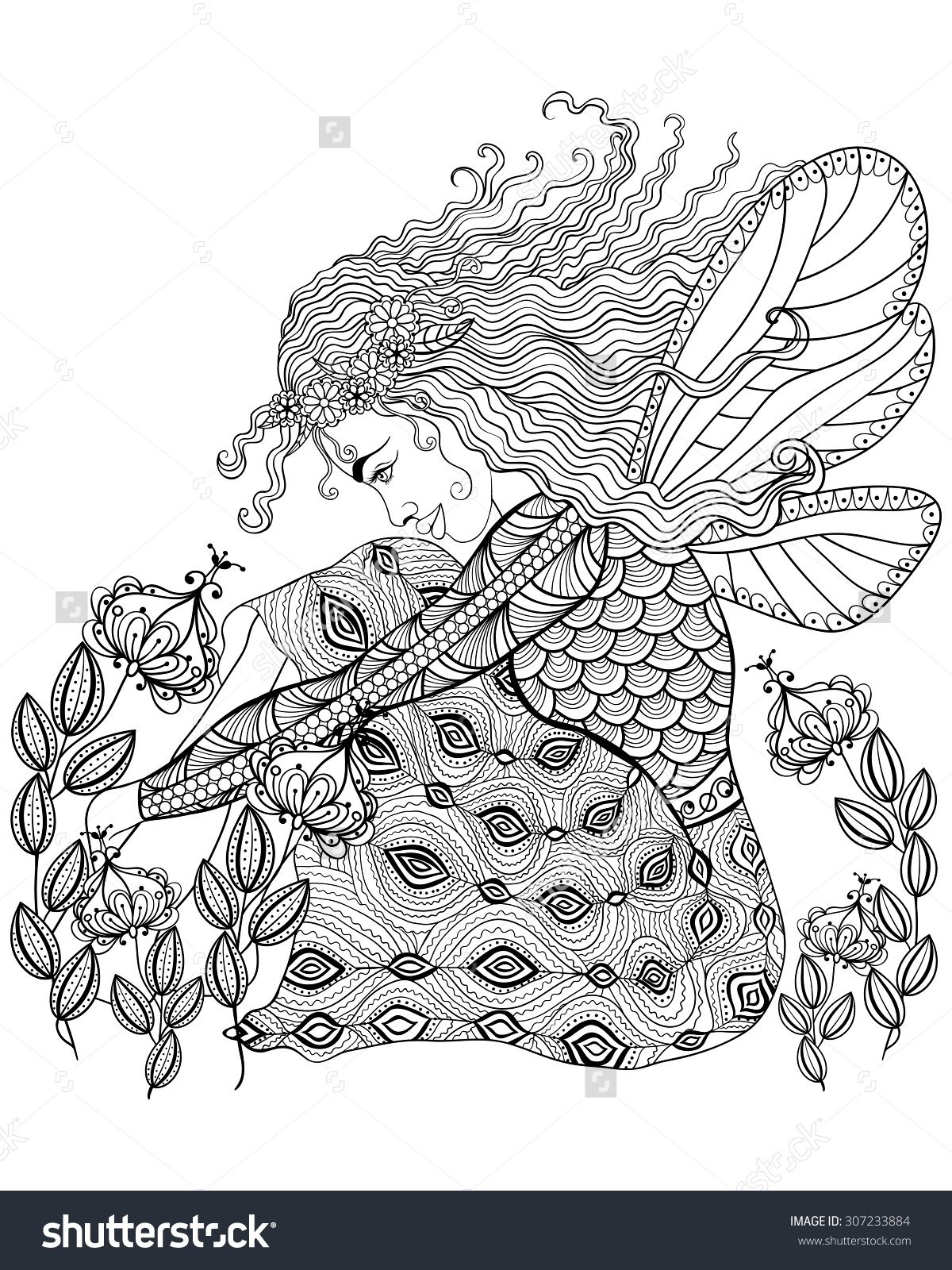 Magic Colouring Pages For Adults Google Search Fairy Coloring Pages Fairy Coloring Anti Stress Coloring Book [ 1600 x 1200 Pixel ]