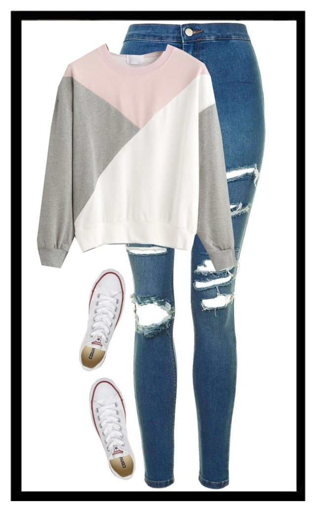 """""""Geen titel #350"""" by x-essie-x ❤ liked on Polyvore featuring Topshop and Converse"""
