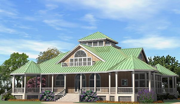 One story house plans with wrap around gazebo porch some for Single story houses with wrap around porches
