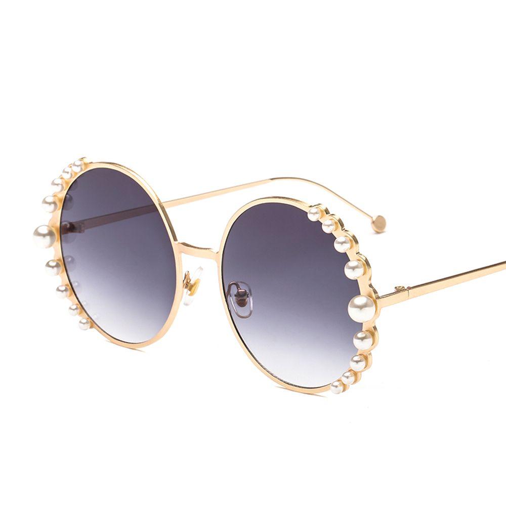 5f9fc4fa3ab1  7.99 Peekaboo luxury womens pearl sunglasses round metal frame 2019  fashion circle sun glasses for women uv400 gradient lens  sunglasses   pearlsunglasses ...