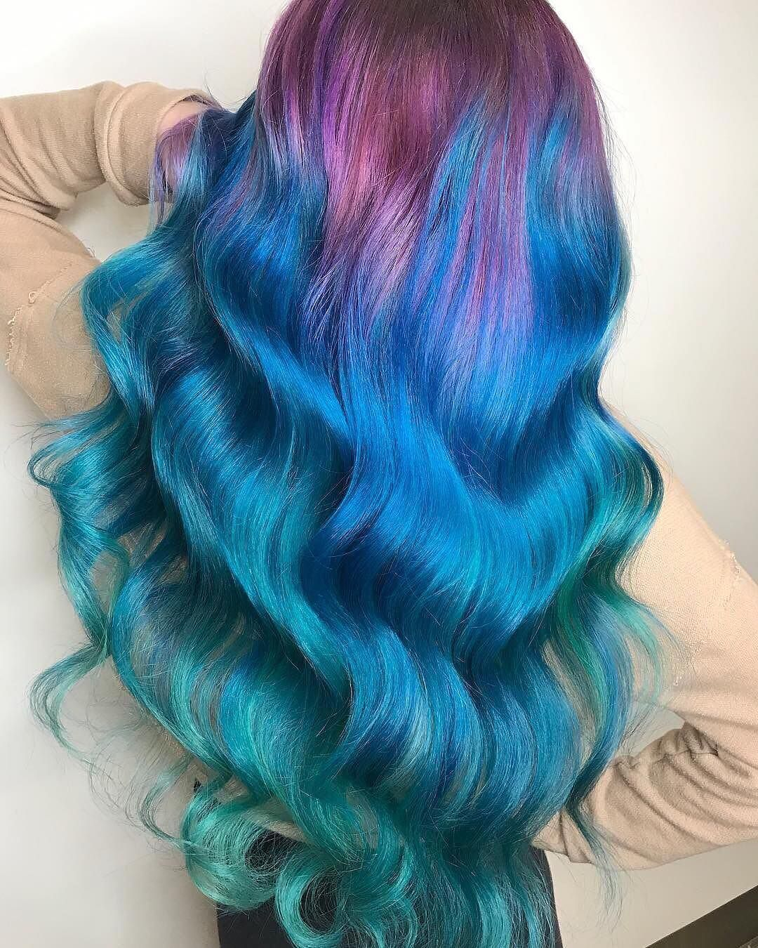 Pin by helpless whilst drying on mermaid hair goals pinterest