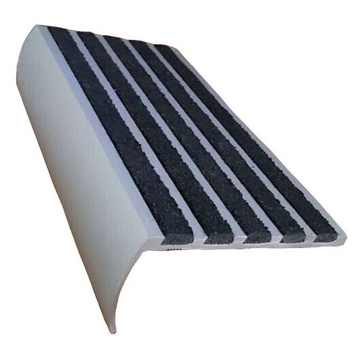 Non Slip Stair Nosing Carborundum Strips Black Carborundum Insert Bullnose Stair Nosing