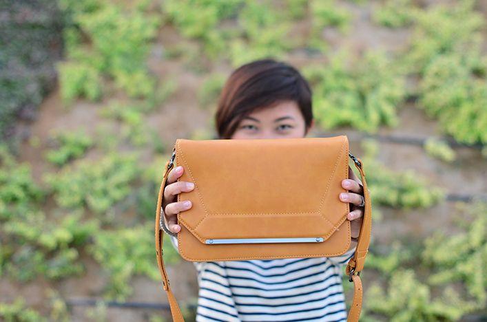 mustard bag from Zara