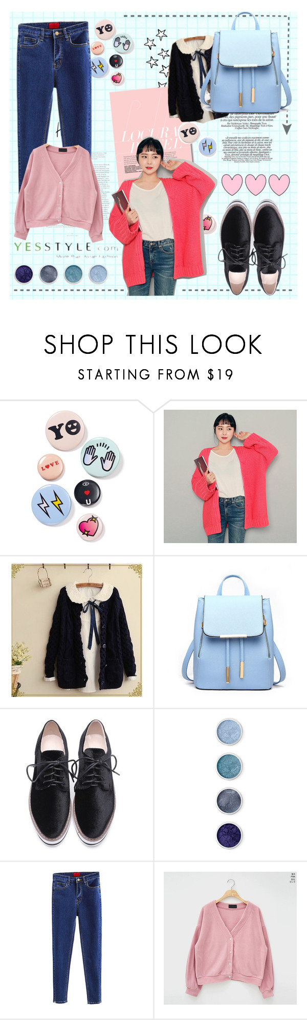"""""""yesstyle"""" by tux-vij on Polyvore featuring Bing Bang, Fairyland, Terre Mère, Winter, ootd, cardigans and yesstyle"""