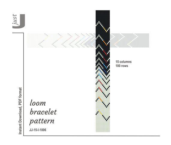 Bead loom pattern, PDF seed bead, loom pattern, beading
