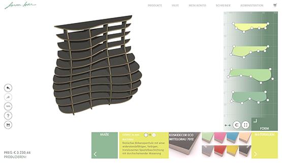 DAS DESIGN  Mit Hilfe unseres ausgezeichneten Online-Editors wirst Du selbst zum Designer. Hast Du Dein Wunschregal einmal konfiguriert und bestellt, werden die übrigen Produktionsschritte vollständig von uns abgewickelt.