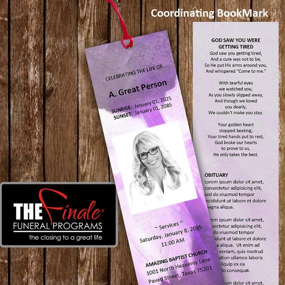 Angelic Wings Shades Of Purple Bookmark Matching Printable