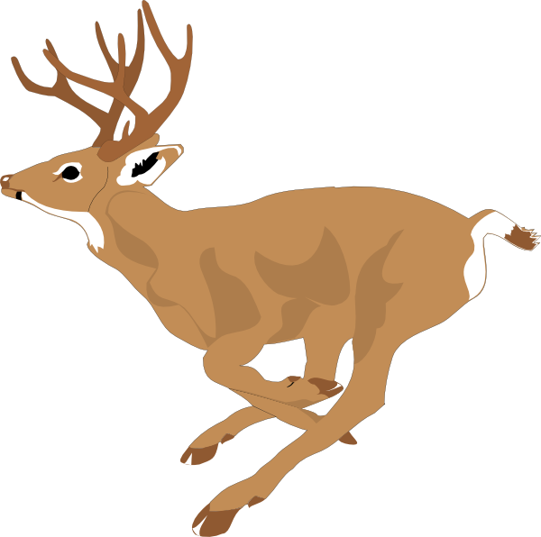 Deer running. Clip art fast inspiration