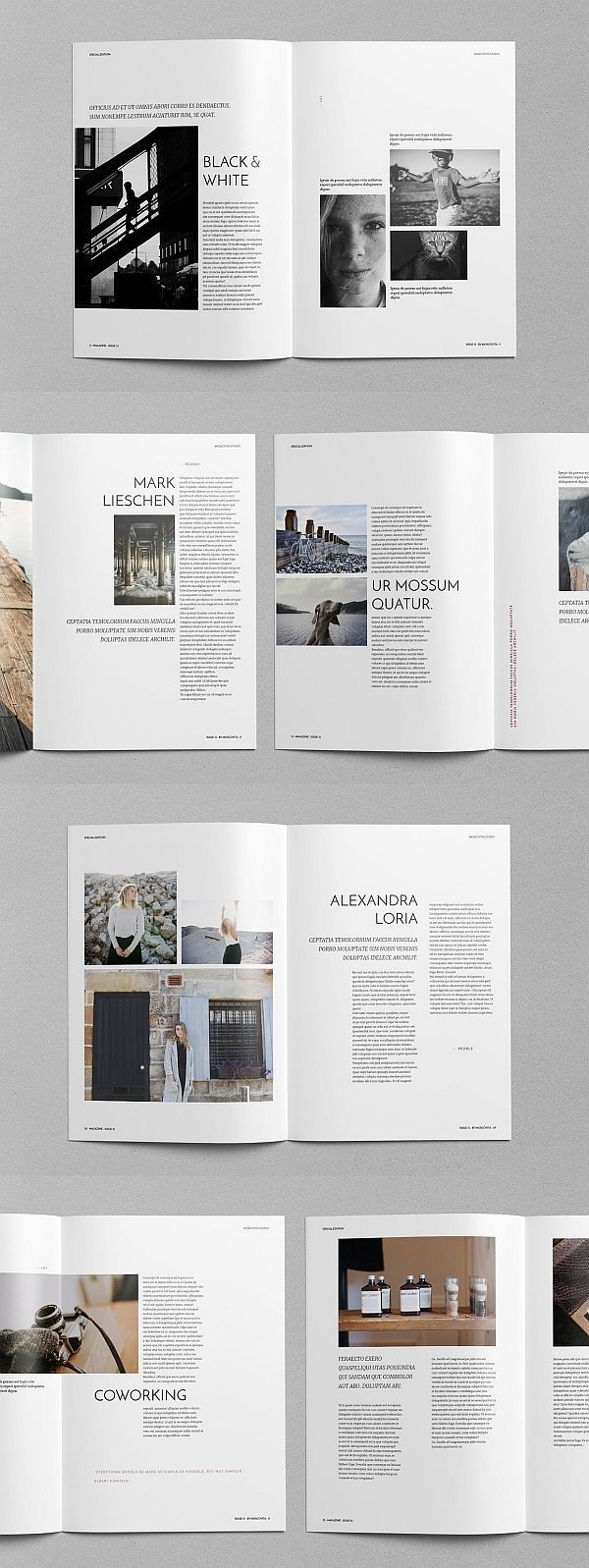 Eko Magazine Template Magazine Brochure Template Brochuretemplate Brochuredesign La Magazine Layout Inspiration Page Layout Design Magazine Layout Design
