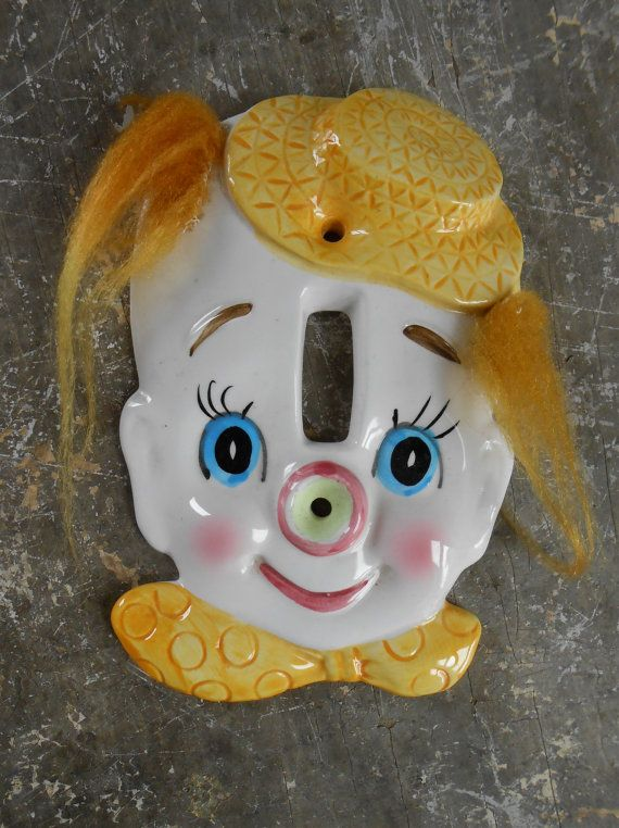 1950s Enesco Clown Light Switch Plate Cover Ceramic Hand Etsy Light Switch Plates Light Switch Plate Cover Switch Plate Covers