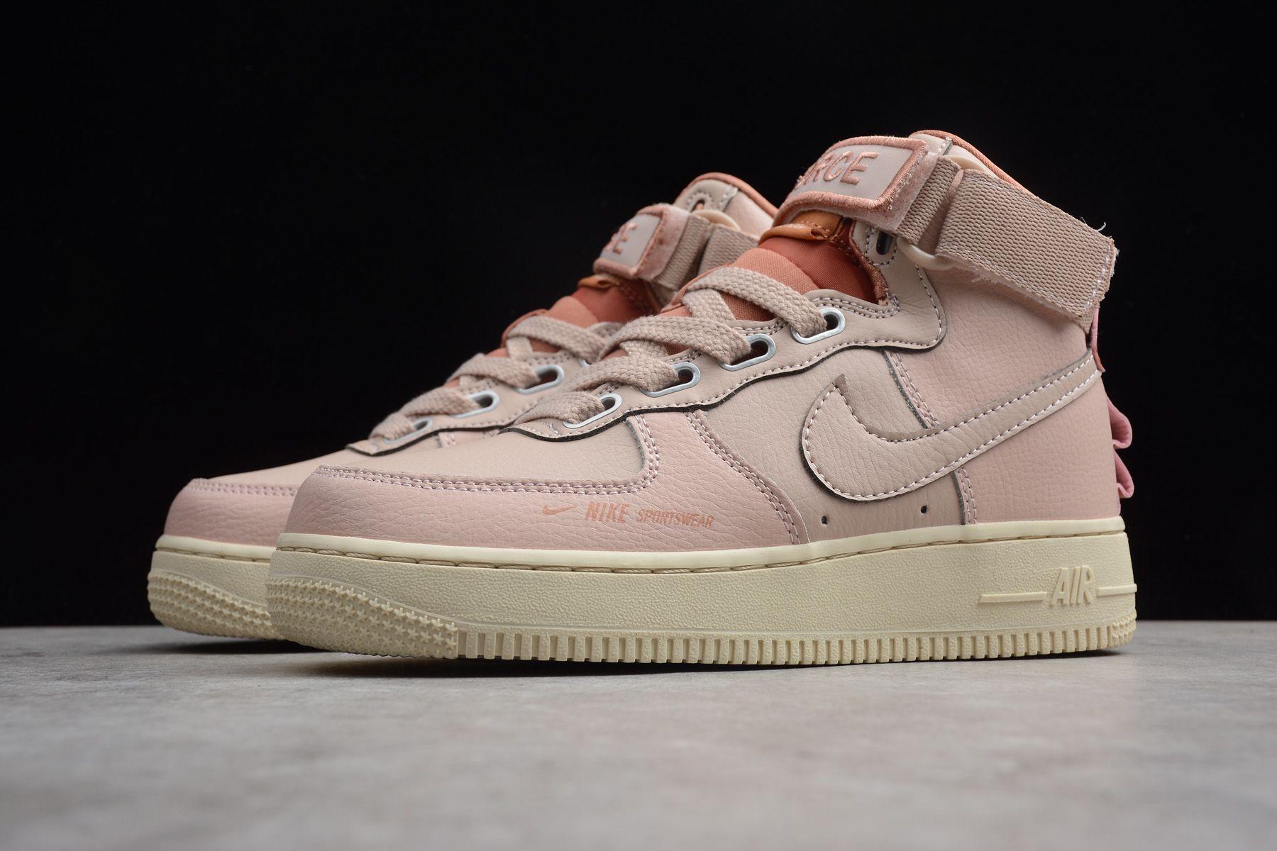 Women S Nike Air Force 1 High Utility Particle Beige Terra Blush Lt Cream Aj7311 200 Nike Air Nike Air Force Nike