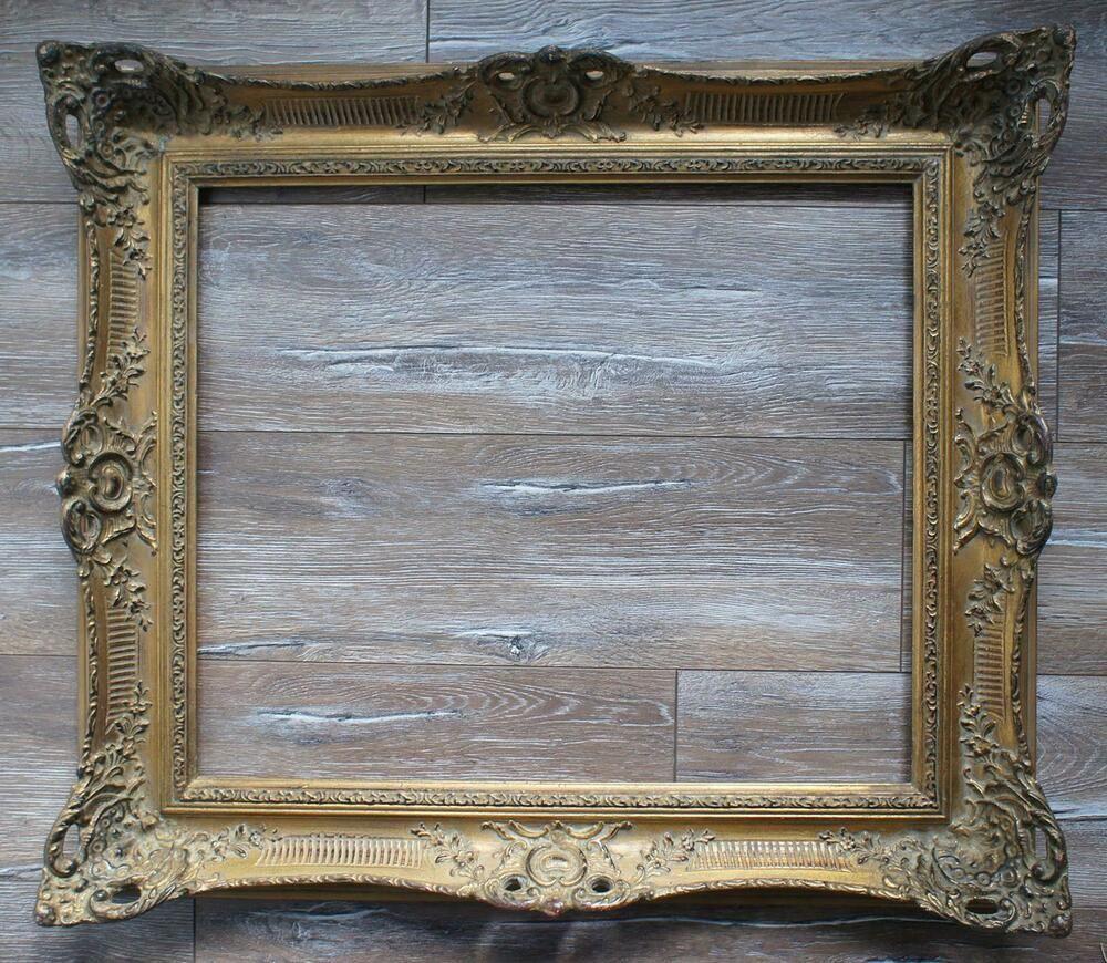 Alter Vergoldeter Barock Bilderrahmen Im Schonen Antiken Stil 61x51 Innenmass Bilderrahmen Barock Antik