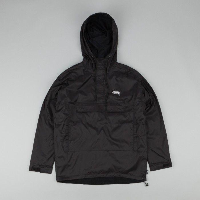 Jacob Mens Sweatshirt Stussy Full-Zip Hoodie Jacket Black