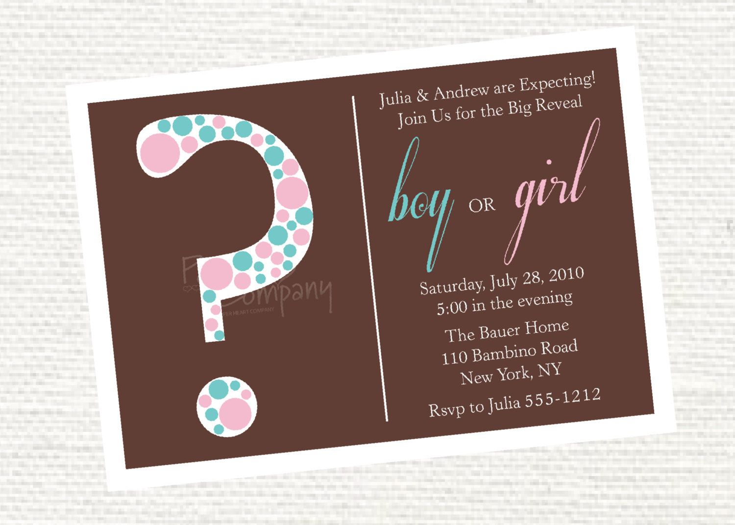 Invitation Wording - simplistic: Scarlett and James are Expecting ...
