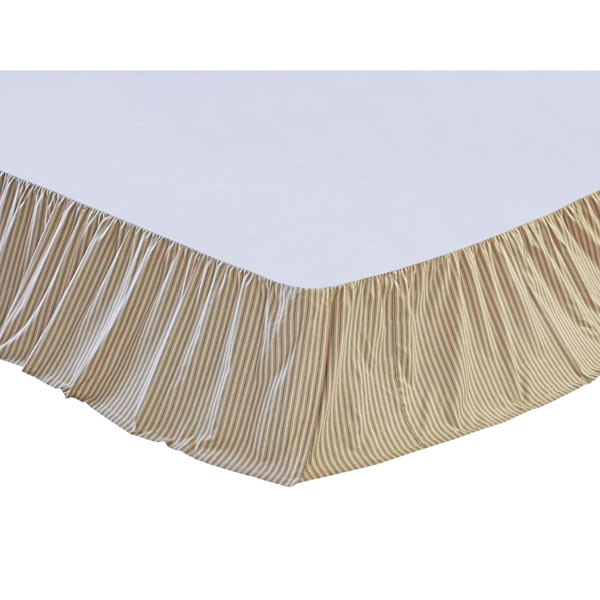 Green Bed Skirt Queen.Prairie Winds Green Ticking Stripe Bed Skirt Striped