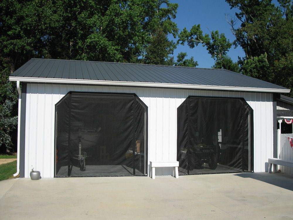 Garage Door Screens Will Not Crease Dent Or Unravel And Withstands
