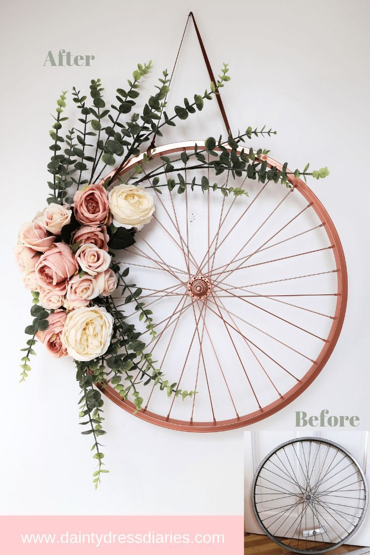Repurpose And Recycle An Old Bike Wheel - Dainty Dress Diaries