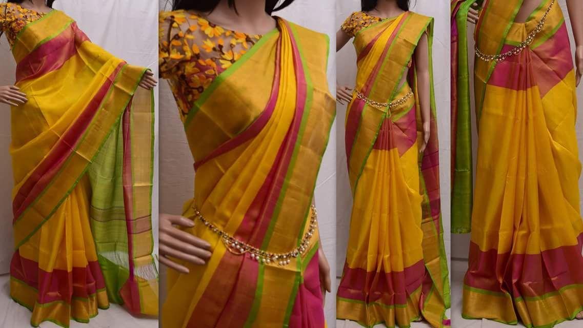 85e8872c8 Latest Uppada Pattu sarees price : 3300 #uppada #multicolor #pattu #saree