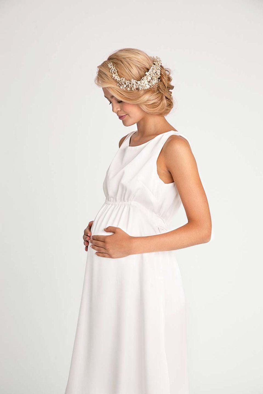 VIVIAN MUM Süßes Brautkleid mit Raffung unter der Brust für den ...