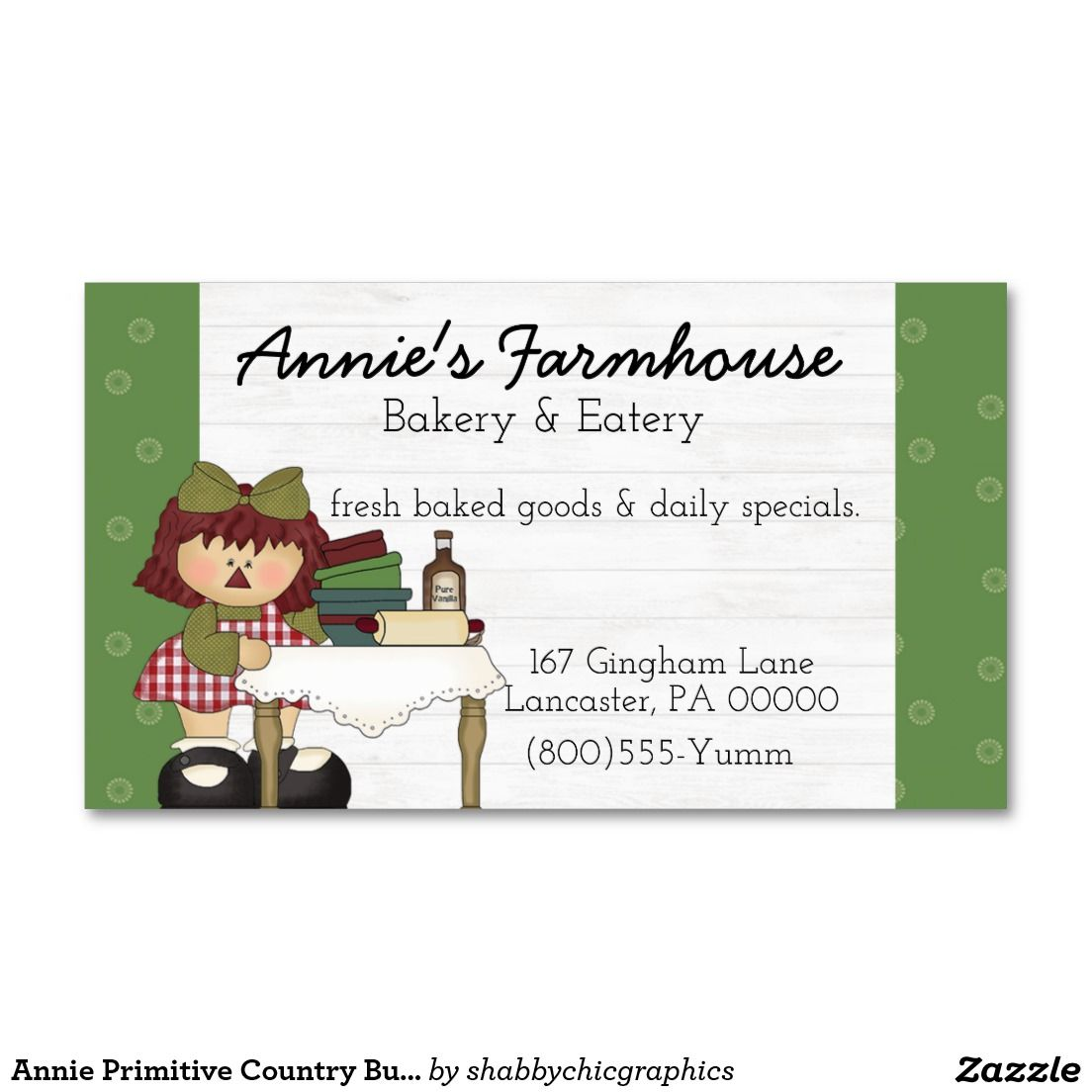 Annie Primitive Country Business Card | My business cards ...