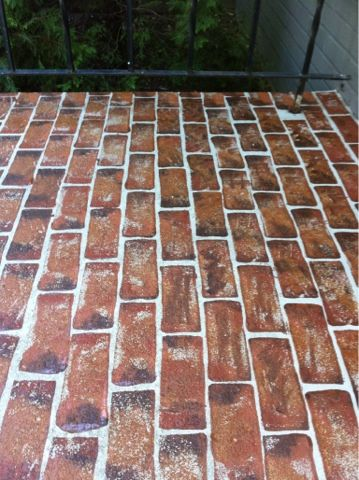 Faux Brick Steps  Quick And Easy