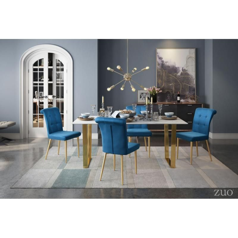 Zuo Modern Atlas Stone And Gold 100652 Dining Table In 2019