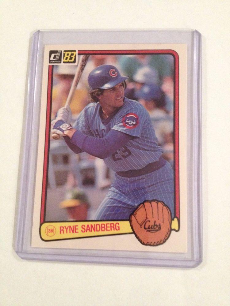 1982 Donruss Ryne Sandberg Rookie Card Rc 277 Chicago