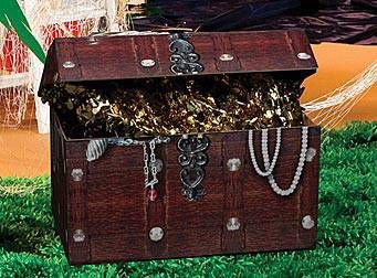 Use This Treasure Chest To Hold Favors Decorationore For Your Nautical Or Pirate Themed Party