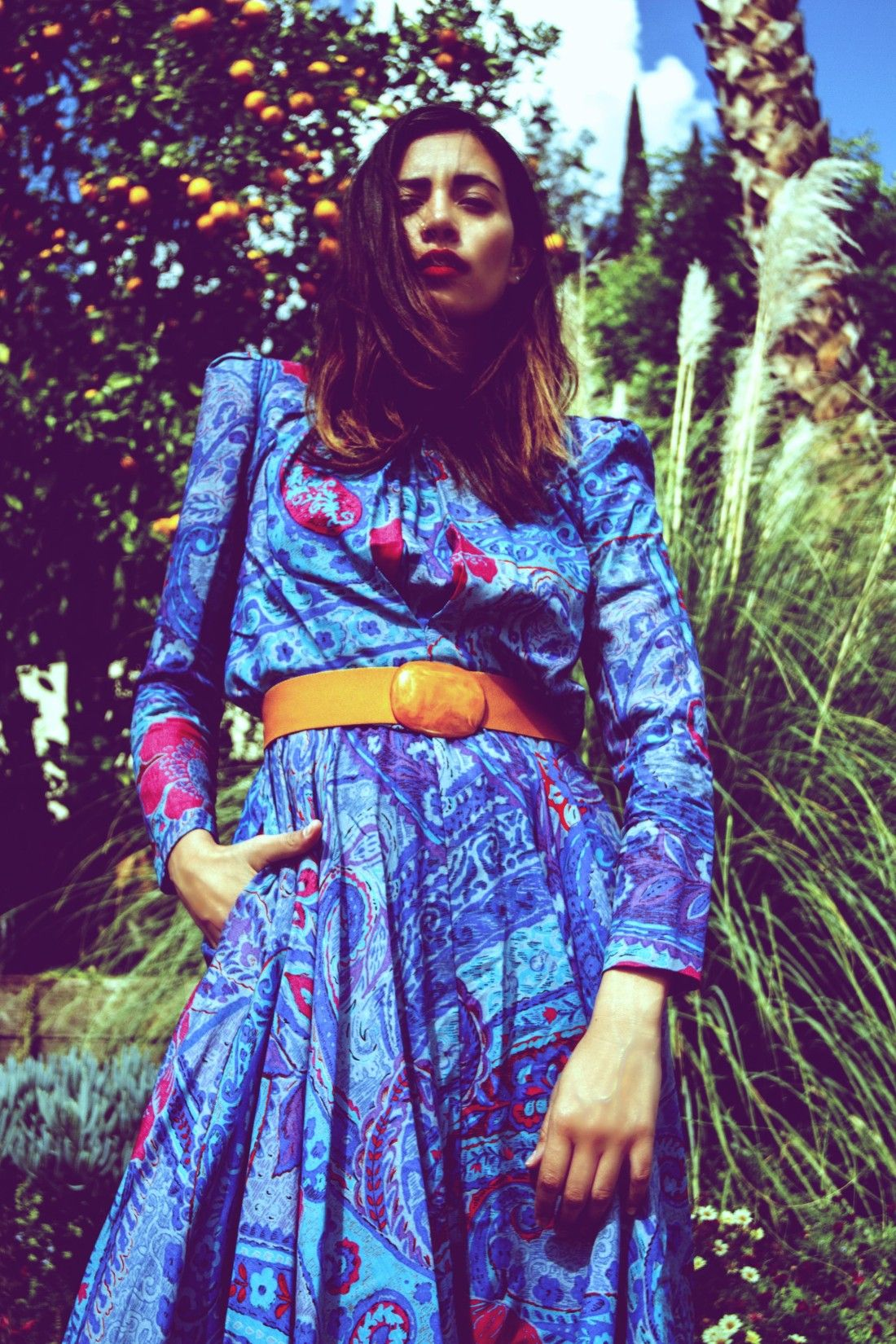Vintage colorful Paisley Spring dress for sale now http://covetcult.com/product/kono-ny-dress/