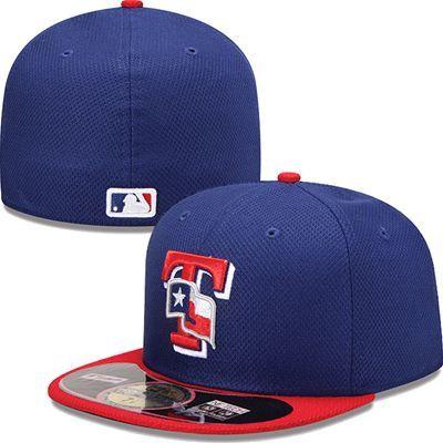 f7604184b7b Texas Rangers New Era MLB Diamond Tech 5950 Fitted Hat (Blue)
