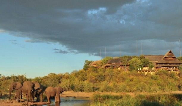 Enjoy breakfast with the blessings of nature in your backyard.  Romance in Southern Africa: Victoria Falls Safari Lodge is just 2.5 miles from the thundering Victoria Falls. #JSElephant