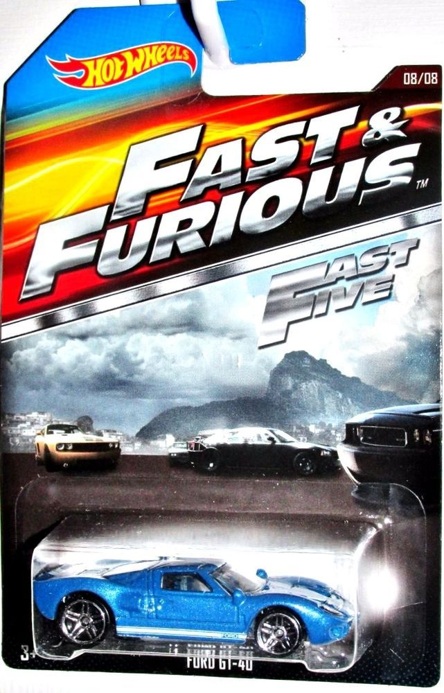 Ford Gt 40 Hot Wheels Fast Furious Movie Car 8 8 Blue Hotwheels