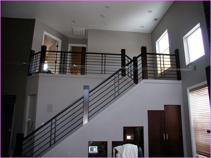Stair Railings Interior Contemporary Metal Stair Railings Interior