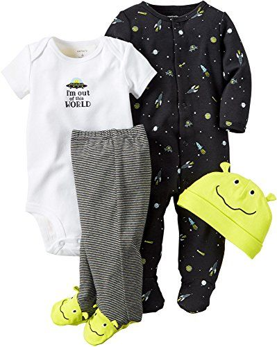 0505bd2b8 Carters Baby Boys 4 Pc Sets 126g359 Black 6 Months     Find out more ...