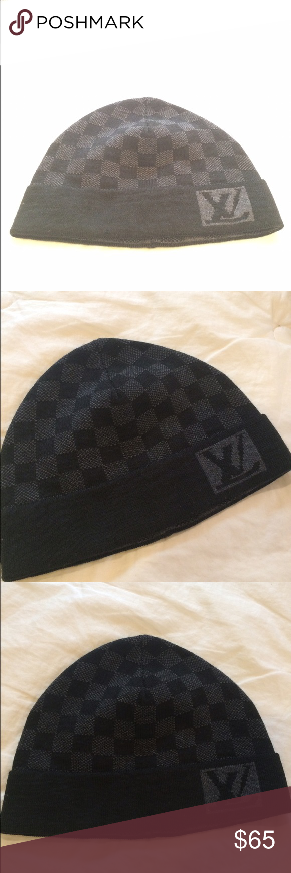 91c9f4ae26b Authentic Louis Vuitton Beanie Gray and black color. Quality is very good.  Real Louis Vuitton Beannie Louis Vuitton Accessories Hats
