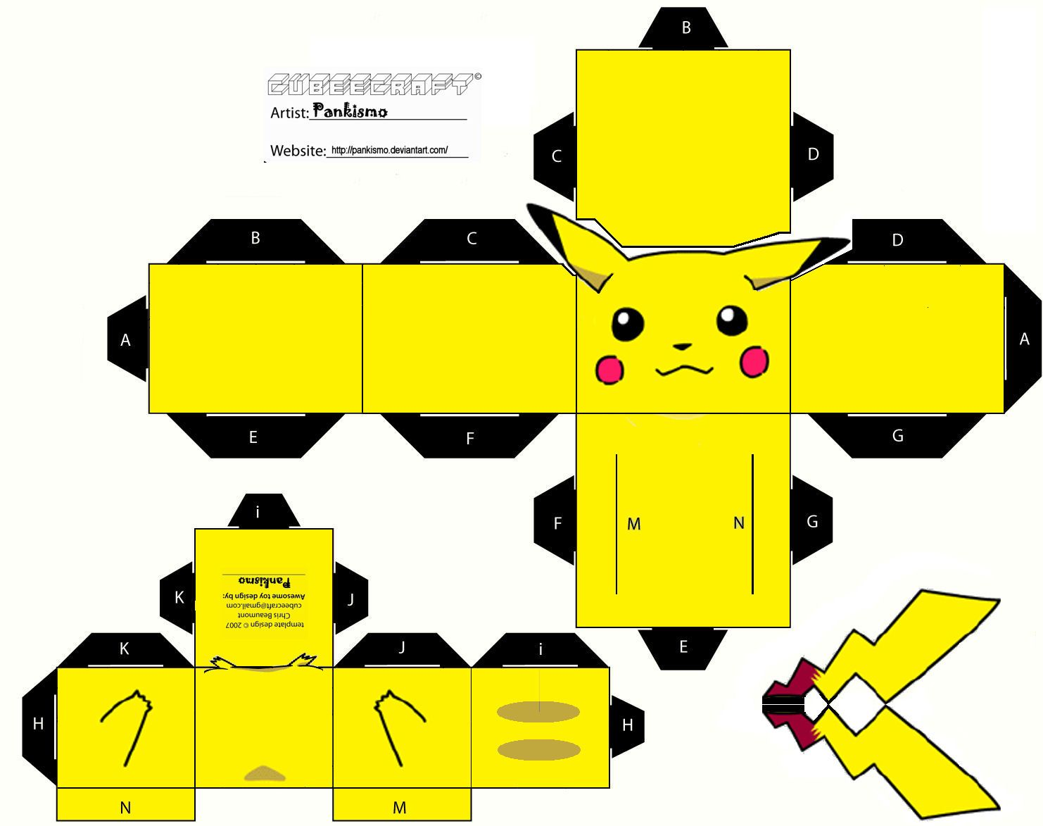 Pokemon Pikachu Papercraft Templates  Pokemon