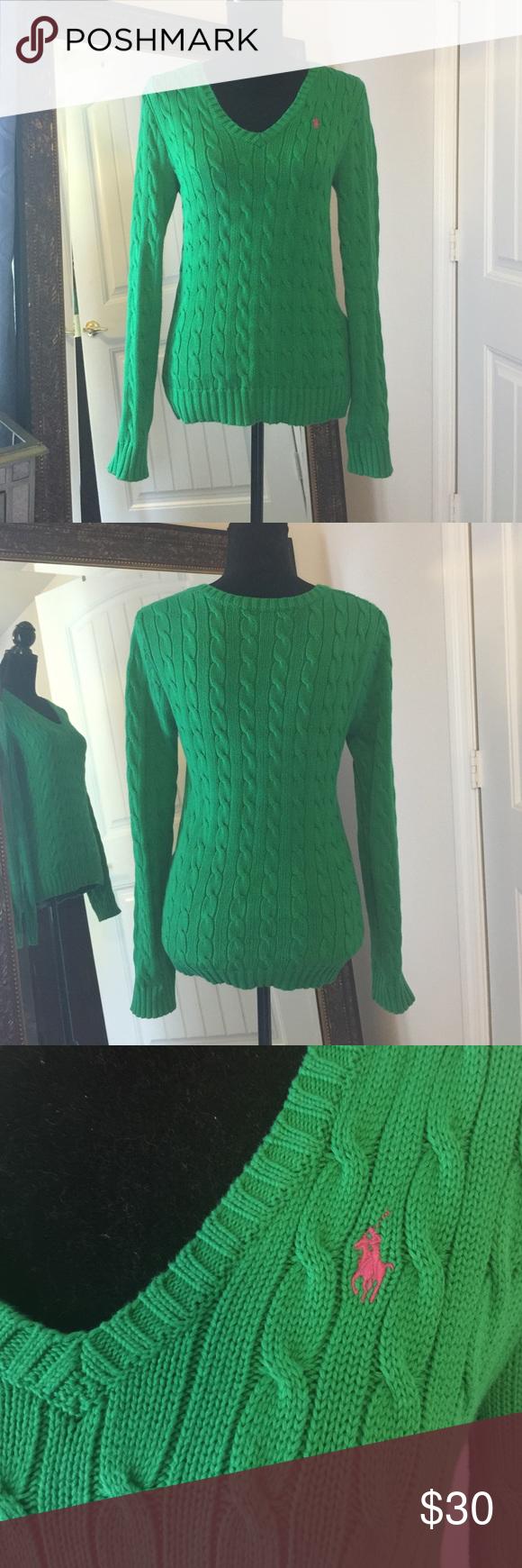 Ralph Lauren Sport sweater | Pink, Ralph lauren and Cable