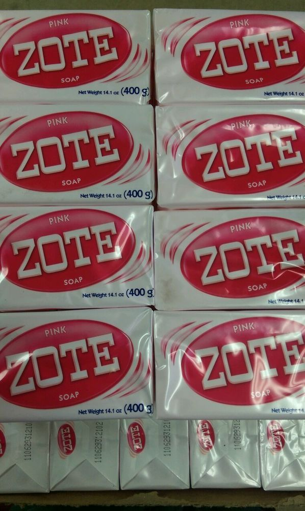 Zote Pink Soap (6) Bars 14.1oz per Hand Wash Soap for Stains 400g per  #Zote  4 each